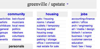 Greenville classifieds