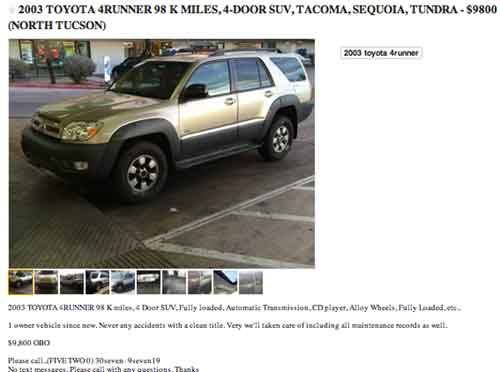 Car classifieds Tucson