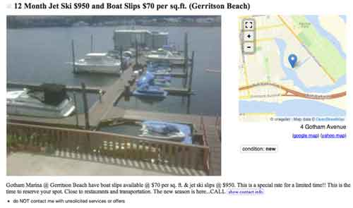 Find here an example of boat craigslist classifieds in new york